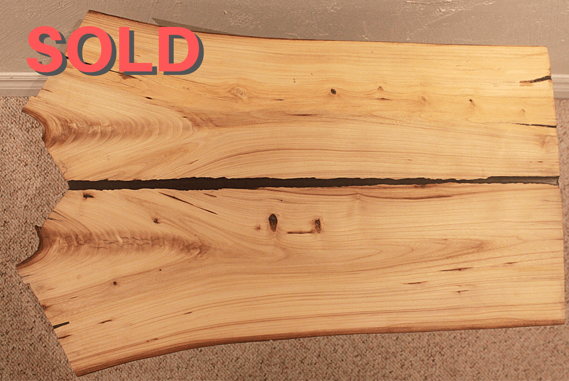 SOLD-Cherry Split Coffee Table