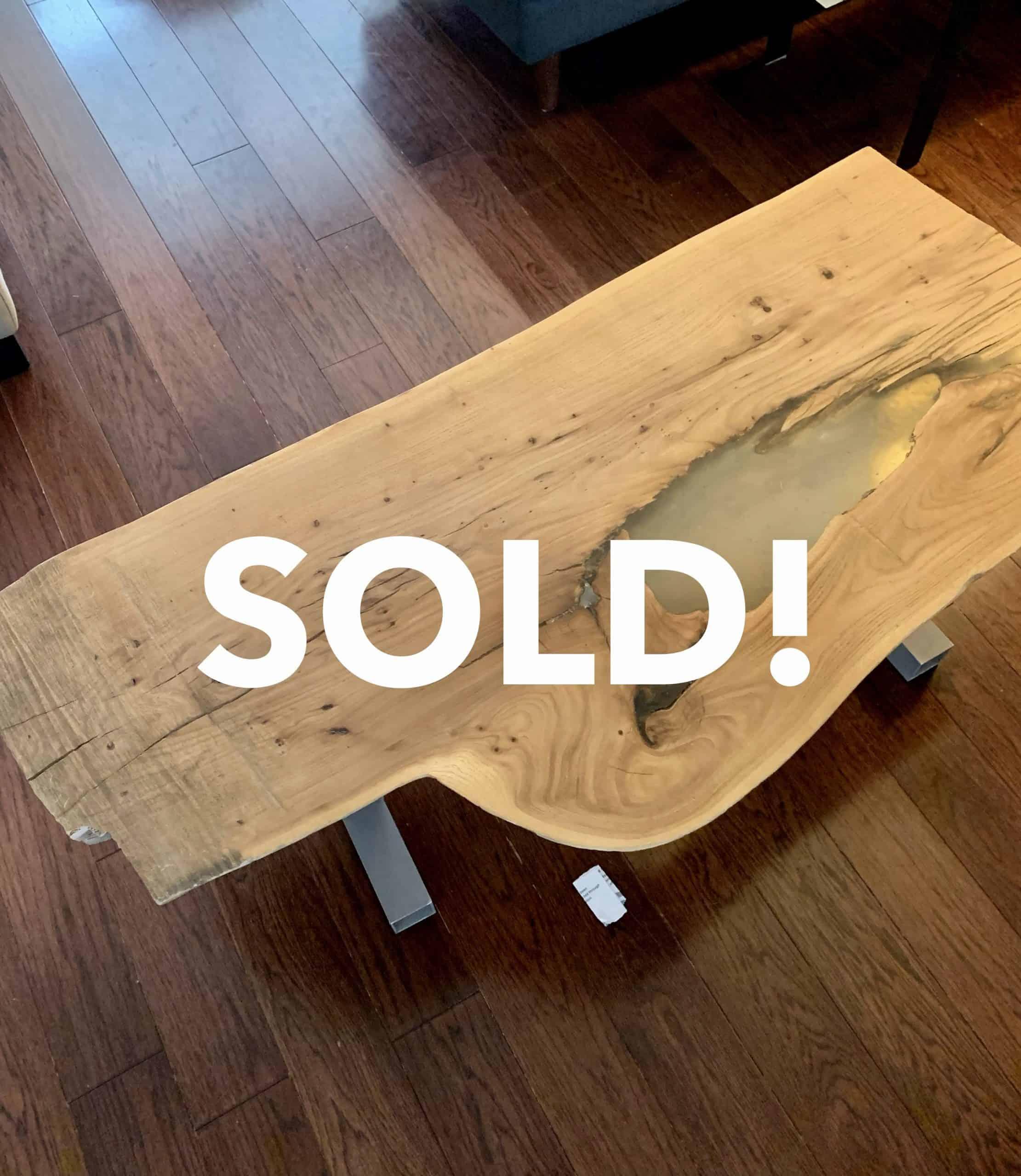 Half log coffee table- SOLD!